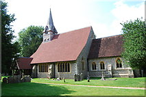 SU3940 : St Peter & Holy Cross Church, Wherwell (1) by Barry Shimmon