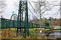 NN9457 : Suspension footbridge over the Tummel, Pitlochry by Jim Barton