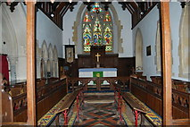 SU3940 : St Peter & Holy Cross Church, Wherwell (5) by Barry Shimmon