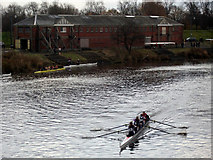 NS6063 : Rowing race on the Clyde by Thomas Nugent
