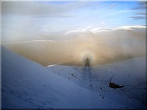 NH1462 : Brocken spectre on Fionn Bheinn by Richard Webb