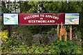 NY6820 : Appleby-in-Westmorland Station sign by Steve Daniels