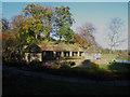 NY4056 : Stone buildings in Eden Bridge Park, Carlisle by Graham Robson