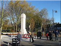 TQ7668 : Gillingham War Memorial, Remembrance Day by David Anstiss