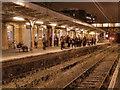 SJ7687 : Altrincham Station, Platform 1 by David Dixon