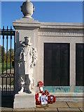 TQ7668 : Statue, Chatham Naval Memorial by David Anstiss