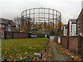 SJ8699 : Gasholder, Bradford by David Dixon