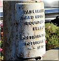 J3772 : Boundary post, Castlereagh Road, Belfast (2) by Albert Bridge
