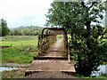 SO3825 : Across a River Monnow footbridge near Llangua by Jaggery