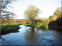 TG2105 : The River Yare past Keswick Mill by Evelyn Simak