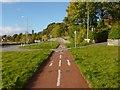 NS2684 : Cycle path near Rhu by Lairich Rig