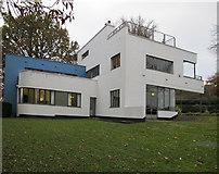 SX7962 : High Cross House, Dartington - modernist architecture by David Hawgood
