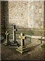 SD4675 : Memorial crosses, St John's Church, Silverdale by Karl and Ali