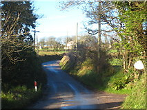 SW6937 : The road from Penhalvean to Four Lanes at Lancarrow by Rod Allday