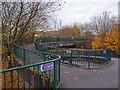 ST3188 : Footbridge junction, Newport by Robin Drayton