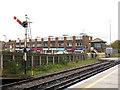 TQ5804 : Polegate station - semaphore signal by Stephen Craven