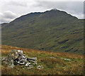 NN3605 : Summit cairn of Cruinn a' Bheinn by Trevor Littlewood