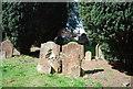 TQ5840 : Weathered gravestones by N Chadwick