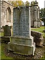 NS3878 : Millburn Kirkyard: Kinloch Memorial by Lairich Rig
