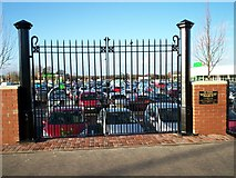 J0154 : Old Gas Works Gates and Plaque at Asda by P Flannagan