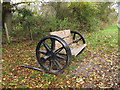TQ5806 : Axle bench on the Cuckoo Trail by Stephen Craven