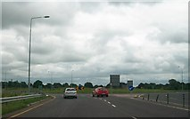 N7274 : The roundabout at the northern end of the M3 by Eric Jones