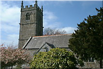 SW5435 : St Ercus' church, St Erth by Dave Kelly