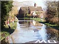 SK3228 : Road Closed by Flooding by Ian Calderwood