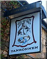 SH5948 : Name sign, Tanronnen Inn, Beddgelert by Jaggery