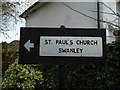 TQ5269 : Pre-Worboys direction sign on School Lane, Swanley Village by David Howard