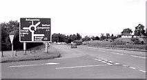 H6257 : Ballygawley roundabout (1980) by Albert Bridge