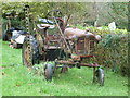 SO7274 : Old tractor at Lem Hill near Far Forest by Jeremy Bolwell