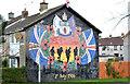 J4979 : Battle of the Somme mural, Bangor by Albert Bridge