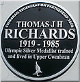 ST2796 : Black plaque commemorating an Olympic silver medallist, Upper Cwmbran by Jaggery