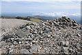 SH6663 : Summit cairn on Carnedd Dafydd by Philip Halling