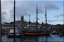 SW4730 : Penzance harbour by Ian Smith