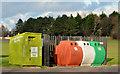 J5181 : Recycling bins, Bangor by Albert Bridge