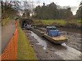 SJ9689 : Restoration Work on the Peak Forest Canal at Marple by David Dixon