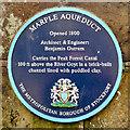 SJ9590 : Marple Aqueduct (blue plaque) by David Dixon