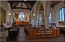 TQ9245 : Interior, St Nicholas' church, Pluckley by Julian P Guffogg