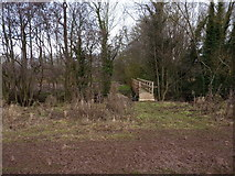 SO6892 : Spangly new bridge over the Mor Brook by Richard Law