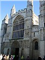 TQ7468 : Rochester Cathedral entrance by Paul Gillett