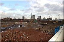 TQ3783 : Olympic Stadium under construction by John Sparshatt