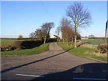 TL3160 : Entrance to Lawn Farm & Bridleway to Brockley Road by Adrian Cable