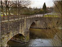 SD7914 : River Irwell, Twist Bridge by David Dixon