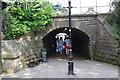 SE3055 : Railway bridge over pedestrian route along Bower Street by Roger Templeman