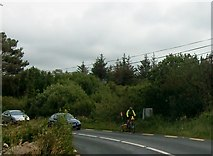 G7798 : Cycle trailer on the busy N56 east of Kilkenny, Co Donegal by Eric Jones