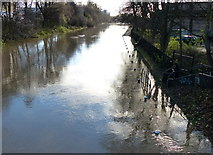 SK5803 : Flooded towpath of the Grand Union Canal by Mat Fascione