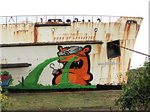 SJ1779 : Street Art on the Duke of Lancaster by John S Turner