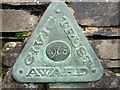 SD4798 : Metal plaque on Barley Bridge, Staveley by Karl and Ali
